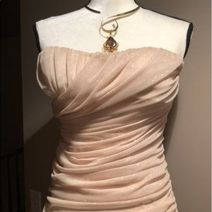 Speechless 🤩 Gold Body-con Metallic Mini Dress